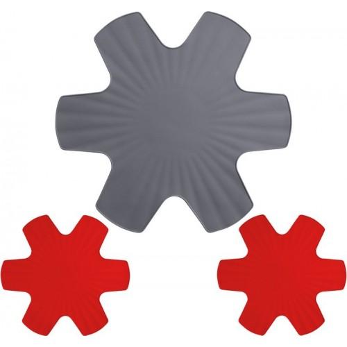 Protector de sartenes de silicona formado por un set de 3 piezas de Woll