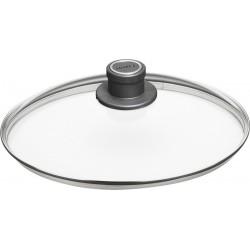 Tapa de vidrio resistente woll de 18 a 32 cm.