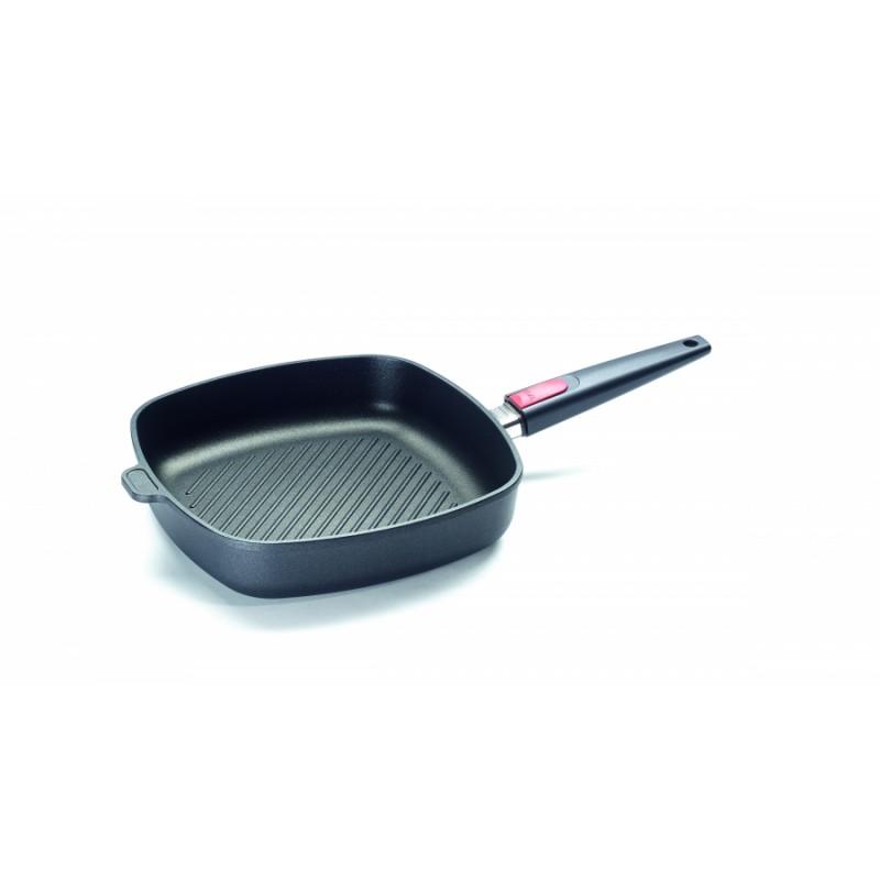Grill de titanio Woll antiadherente Ø28 cm para inducción con mango desmontable