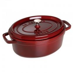 Cocotte ovalada de hierro fundido varios colores 29 cm.