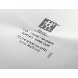 Wok de acero inoxidable con tapa de cristal de 32 cm.