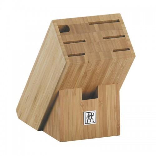 Taco de cuchillos vacío de madera de bambú