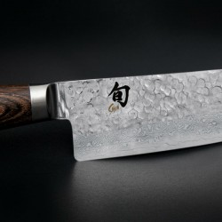 Cuchillo tradicional japonés Santoku Shun Premier de 14 cm.