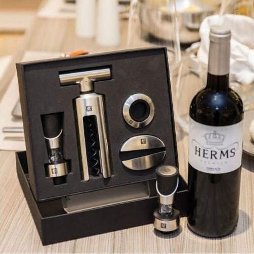 Juego completo de accesorios de vino formado por 4 piezas de sommelier