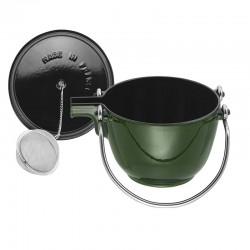 Tetera de hierro colado con bola de té