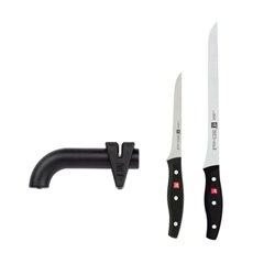 Kit de corte de jamón cuchillos serie Twin Pollux con afilador de mano