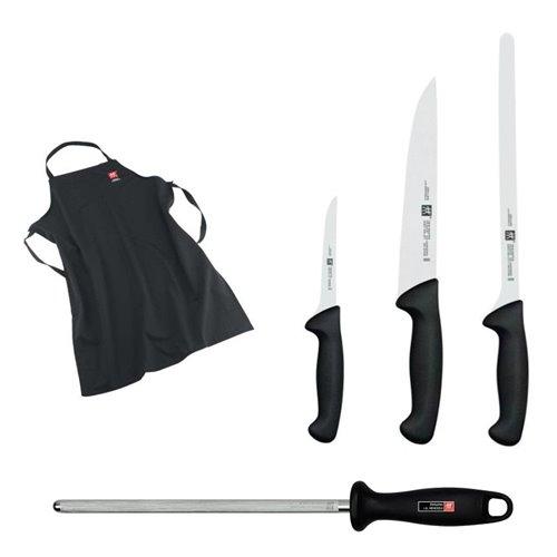 Set de cuchillos para el corte de jamón serie Twin Master con Chaira