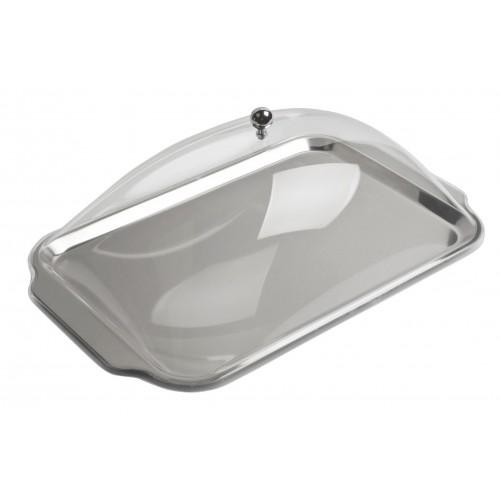 Bandeja de catering rectangular con cúpula