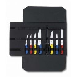 Bolsa enrollable para cuchillos de cocina vacía