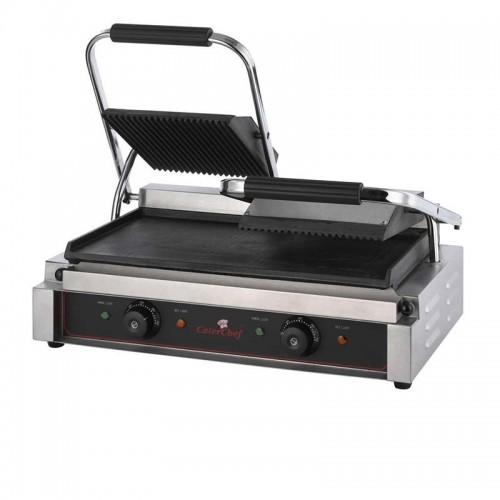 Grill eléctrico de contacto compacto duo de doble plancha de acero inoxidable