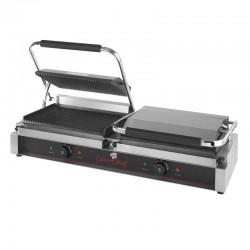 Grill eléctrico de contacto duo compacto duo de doble plancha para hostelería