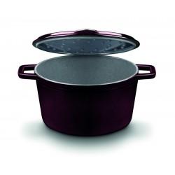 Cocotte / Cacerola alta con tapa de fundición de hierro de 18 cm.
