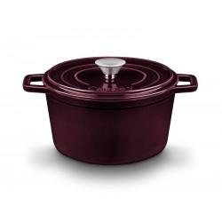 Cocotte / Cacerola alta con tapa de fundición de hierro de 20 cm.