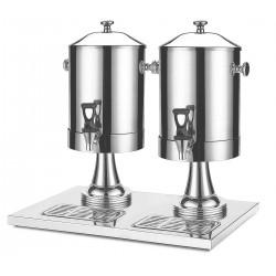 Dispensador doble de leche inox. Capacidad 16 litros