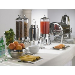 Dispensador doble de cereales para buffet