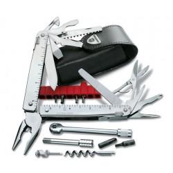 Swiss Tool X Plus Ractchet con funda de piel