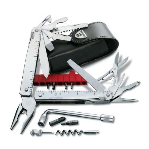 Swiss Tool X Plus con funda de piel