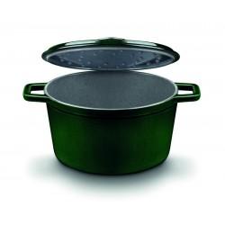 Cocotte / Cacerola alta con tapa de fundición de hierro de 14 cm.