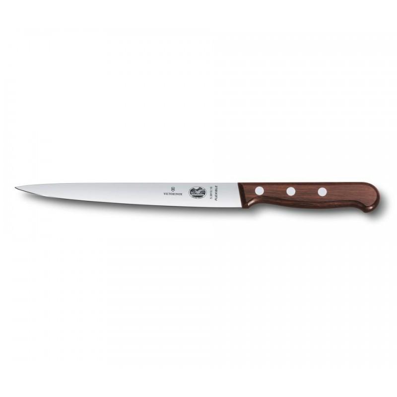 Cuchillo flexible para filetear pescado de 18 cm. y mango de madera
