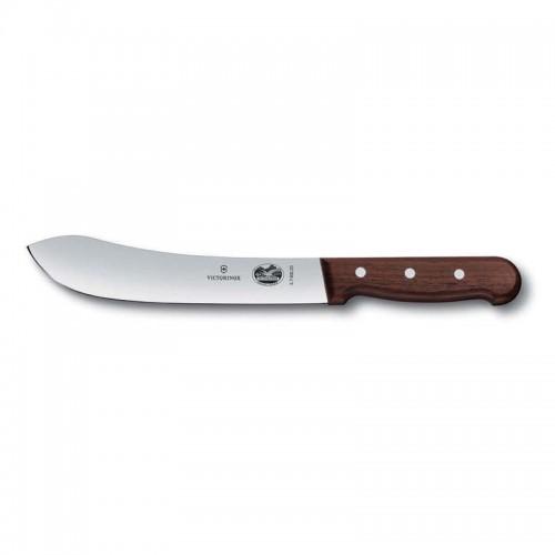 Cuchillo para verdura de 8 cm. de punta centrada y mango de madera