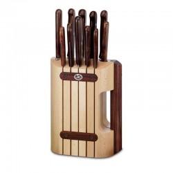 Juego de cuchillos de cocina de mango de madera. 11 Piezas