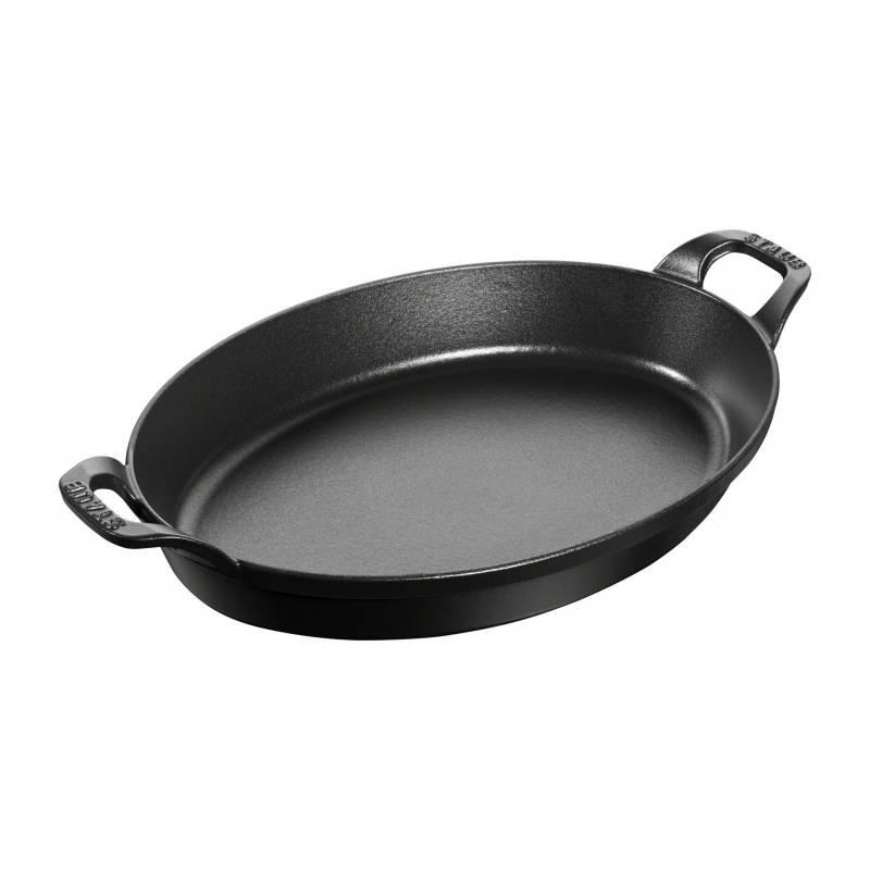 Fuente ovalada para horno de hierro fundido