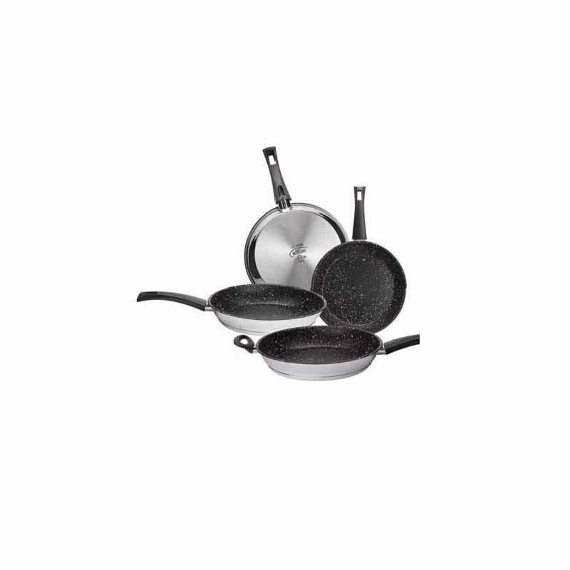 Conjunto de vapor en acero inoxidable de 28 cm. y tapa de acero inox