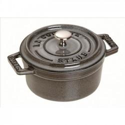 Mini cocotte ovalada de hierro fundido y esmalte vitrificado 11 cm.