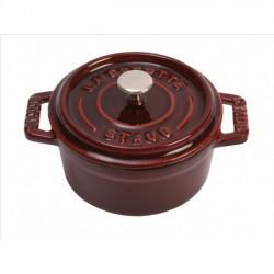 Mini cocotte redonda de hierro fundido esmaltado 10 cm.