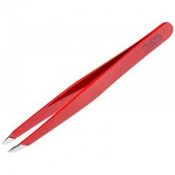 Pinza profesional Rubis de punta recta roja