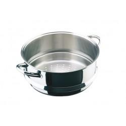 Conjunto de vapor cacerola y cocedor con tapa cirstal