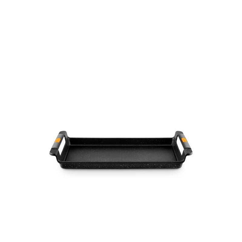 Asador bandeja para gas y vitrocerámica con asas de silicona