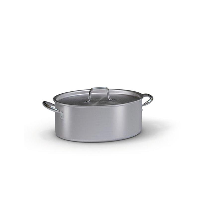 Cazuela ovalada industrial de aluminio con tapa para for Accesorios de cocina industrial