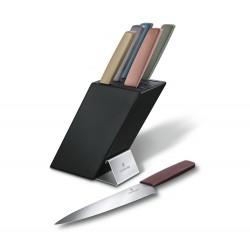 Bloque de 6 cuchillos Swiss Modern
