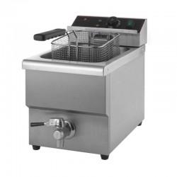 Freidora eléctrica profesional de 8 litros con grifo de vaciado