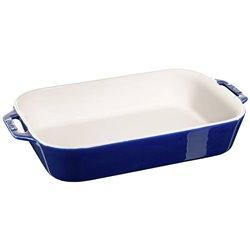 Fuente rectangular de cerámica para hornear de 34 x 24 cm