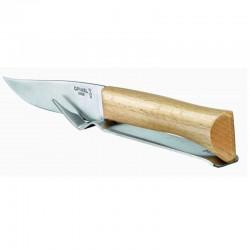 Cuchillo para carnicero de hoja ancha y curva con mango de madera. 25,31 y 36 cm.