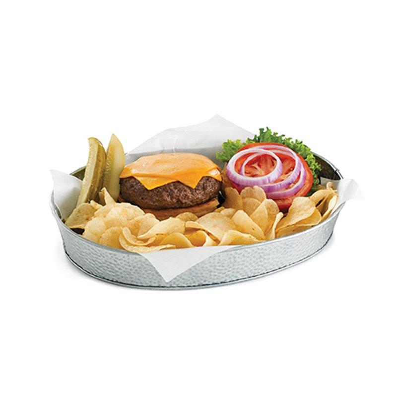 Bandeja ovalada de aperitivo o para servir comida de acero for Servir comida