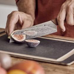 Bandeja ovalada para servir comida de acero inoxidable 24 cm.