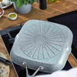 Grill con revestimiento de piedra Granitium y mango de acero inox