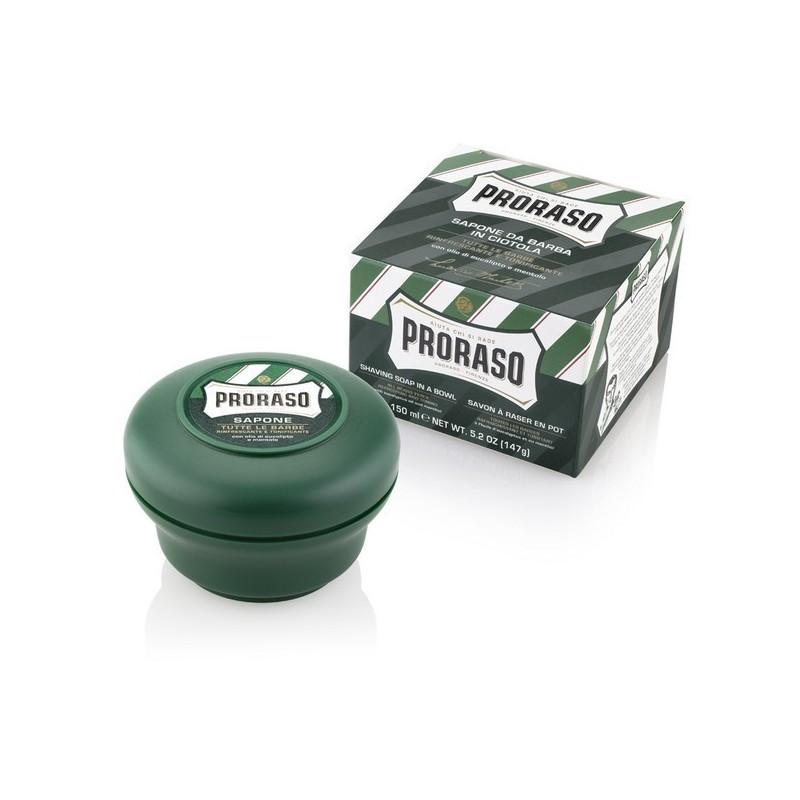 Jabón de afeitar con eucaliptos Proraso de 150 ml.