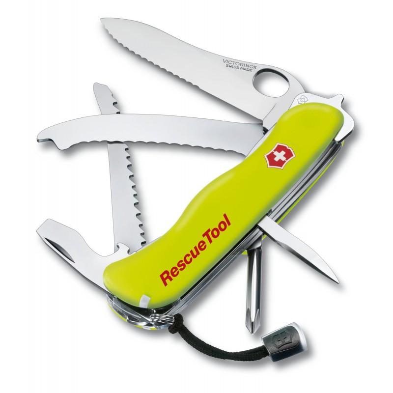"""Navaja multiusos suiza de rescate """"Rescue Tool Victorinox One Hand"""" con funda"""