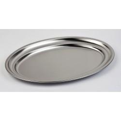 Bandeja oval de servir de acero inoixdable 18%
