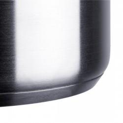 Cazuela baja con tapa profesional en acero inoxidable para hostelería