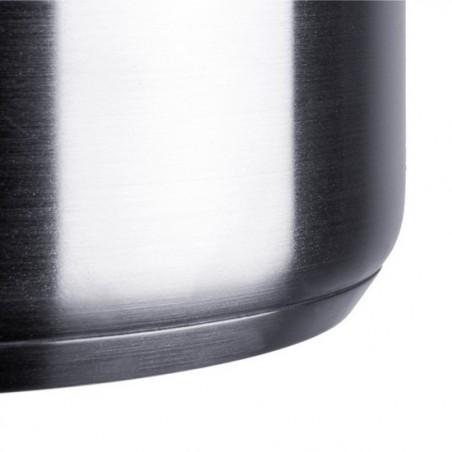 Olla grande industrial de 10 y 16 litros con colador y tapa en acero inoxidable