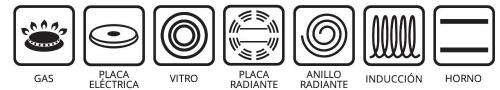 Tapa para todo tipo de placas y horno